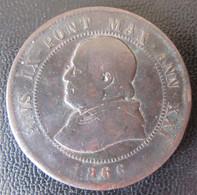 Etats Pontificaux (Vatican) - Monnaie 4 Soldi / 20 Centesimi 1866 R (ROME / ROMA) - Vaticaanstad