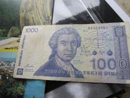 1000 Hrvatskih Dinara 1991 - Croatia