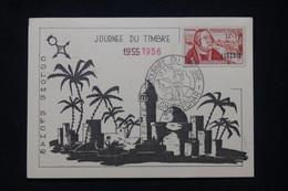 ALGÉRIE - Carte De La Journée Du Timbre De Colomb Bechar En 1956 -  L 96090 - Covers & Documents
