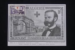 ALGÉRIE - Carte Maximum En 1954 - Croix Rouge Henri Dunant -  L 96091 - Covers & Documents