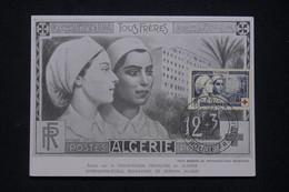 ALGÉRIE - Carte Maximum En 1954 - Croix Rouge - Infirmières -  L 96094 - Covers & Documents