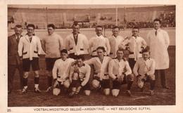 CPA De L'équipe De Football De BELGIQUE Aux J.O De 1928. - Soccer