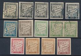 EB-9: COLONIES GENERALES: Lot Avec Taxe * Et Obl N°1-6-7-8-9-18-19-20-20 Paire Obl-22-24(2)-26 - Strafportzegels