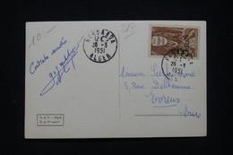 ALGÉRIE - Affranchissement Journée Du Timbre, D'Alger Sur Carte Postale En 1951 Pour La France -  L 96104 - Covers & Documents