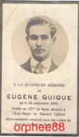 Gesneuveld Guerre Eugène Quique °1895 Décédé Fort De Loncin 15-08-1914 - Overlijden