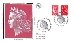 FRANCE.FDC.AM11228.08/11/2007.Cachet Paris.Marianne De Cheffer.50 Ième Anniversaire - 2000-2009