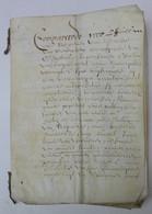 OUD DOKUMENT 1672 OP PERKAMENT  ALLES AFGEBEELD - Documenti Storici