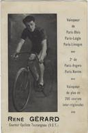 CYCLISME. Carte De René GERARD. Coureur Tourangeau. Au Départ Du Tour De France 1924 (Ab. 6è étape) - Ciclismo