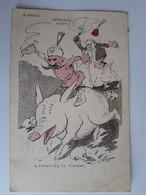 """CPA - Austro-Hongroise - """"MENEKÜLES NISBE - A PISZLICSAR ES FÜVEZERE"""" (S'échapper Est Essentielle) - Signée VARGA, 1914 - Umoristiche"""