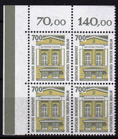 BRD, 1993, Nr. 1691 ** Sehenswürdigkeiten (XVI),  Ein Eckrand-Viererblock Oben Links - Neufs