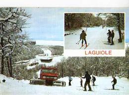 12 LAGUIOLE Les Pistes Et La Station De Ski , Sur Les Monts D'Aubrac, Chasse Neige - Laguiole