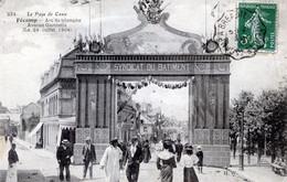 76  FECAMP ARC DE TRIOMPHE AVENUE GAMBETTA  EN 1904 - Fécamp
