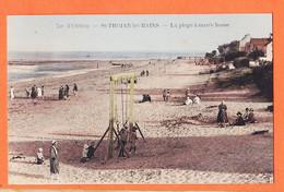 X17223 ⭐ SAINT-TROJAN-les-BAINS St 17- Ile OLERON Balançoires Plage Marée Basse 1931 à AGLAGANIAN Sucy-en-Brie-SERVOIS - Ile D'Oléron