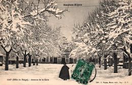 Hautes-Alpes - Gap En Hiver (Effet De Neige) Avenue De La Gare - Edition J. Payan, Bazar - Gap