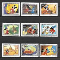 Disney Set Mongolia 1983 Mickey Mouse In The Disney Film FANTASIA MNH - Disney