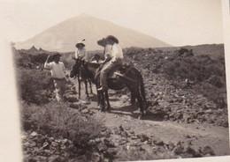 TENERIFE CANARIES Ascension Du MONT TEIDE Volcan 1927 Photo Amateur Voyageurs Belges Format Environ 4 X 6,5 Cm - Lieux
