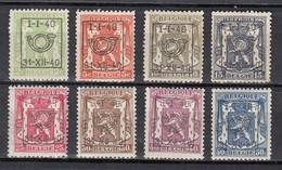 PRE437/445 Zonder Gom - Typo Precancels 1936-51 (Small Seal Of The State)
