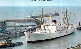 """Cpsm Dieppe  Bananier   Bateau Cargo  """" Fort Caroline    """"  C.G.T Compagnie Générale Transatlantique - Cargos"""