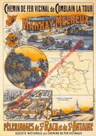 Manhay Melreux - Chemin De Fer Vicinal De Comblain La Tour - Retro Affiche - Manhay