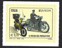 """Italia, Italy, Italie, Italien 2013; Moto Guzzi """"Galletto"""" + Motociclo Piaggio. - Motorbikes"""