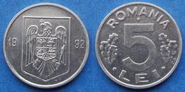 ROMANIA - 5 Lei 1992 CD KM# 114 Republic (1994-2005) - Edelweiss Coins - Romania