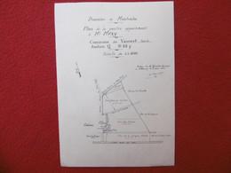 VAUVERT DOMAINE DE MONTCALM PLAN PARTIE APARTENANT A MEZY 1933 Dim 25 X 17.5 Cm - Other Plans