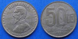 "ROMANIA - 50 Lei 1991 ""Alexandro Ioan Cuza"" KM# 110 Republic - Edelweiss Coins - Romania"