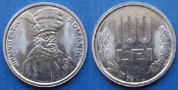 "ROMANIA - 100 Lei 1992 ""Mihai Viteazul"" KM# 111 Republic - Edelweiss Coins - Romania"