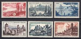 1955 FRANCE LANDSCAPES MICHEL: 1064-1068, 1070 MNH ** - Nuovi