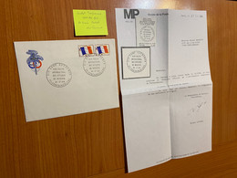 Lettre De 1968 - Camp Guynemer - Franchise Militaire Et Cachet Temporaire Certifié Par Le Musée Postal - Franchise Stamps