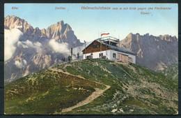 1910 Austria ELFER ZWOLFER HELMSCHUTZHAUS  Postcard Marburg - Franzensfeste Railway TPO Bahn Train - Covers & Documents