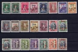Turkey Mi 913 - 934  Isf 1233 - 1254 1930 MH/*, Mit Falz, Avec Charnière Ankara Sivas - Unused Stamps