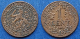 CURAÇAO - 1 Cent 1942 P KM# 152 Wihelmina (1890-1948) - Edelweiss Coins - Curacao