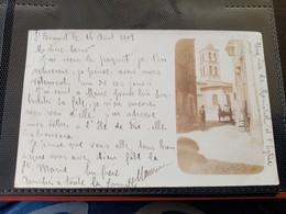 H1/Monistrol-CARTE PHOTO Une Rue Et L'église - Otros Municipios