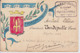 Carte De Membre Faite à La Main Sur CPA / AMICALE CAMP DE PRISONNIERS FRIEDRICHSFELD  Unique - Guerra 1914-18