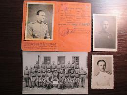 1941 Royal Yugoslav Military ID Card And Photos Of Officer - Documentos Históricos