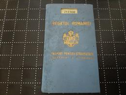 1938 Romania Passport Passeport - For Travel To Poland For Old Jewish Lady - Documentos Históricos