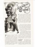 Les Coulisses Du Carneval /  Article,  Pris D`un Magazine / 1910/1911 - Unclassified