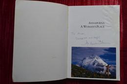 Signed Arlene Blum Annapurna A Woman's Place Himalaya Mountaineering Escalade Alpinisme - Unclassified