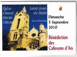Encart Monnaie De Paris 13.Aix En Provence - Bénédiction Des Calissons 2010 - 2010