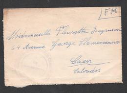 LETTRE DU CAMP DE RIVESALTES A CAEN C2366 - Guerra De 1939-45