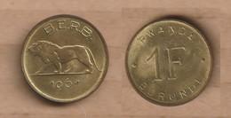 RUANDA-BURUNDI  1 Franc 1961  Brass • 3.75 G • ⌀ 21 Mm KM# 1, Schön# 1, - Burundi
