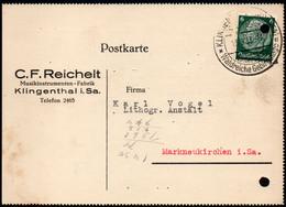 F0235 - Klingenthal C.F. Reichelt Musikinstrument - Nach Markneukirchen - Storia Postale