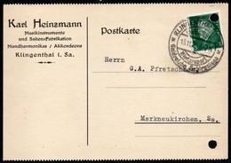 F0236 - Klingenthal Karl Heinzmann Musikinstrument - Nach Markneukirchen Sonderstempel - Storia Postale