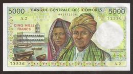 COMORES (Comoros). 5000 Francs (1984). A Series. Pick 12a. UNC. - Comoros