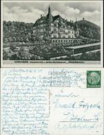Postcard Karlsbad Karlovy Vary Waldkaffee - Jägerhaus 1940  - Repubblica Ceca