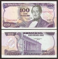 COLOMBIA. 100 Pesos Oro 1.1.1980. Pick 418c. UNC. - Colombia