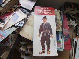 National Costumes Cardboard Doll  Yugoslavia Nosnje Naroda Juguslavije  Srbija - Non Classés