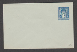 Enveloppe, Type Sage 15c Bleu - Enveloppes Types Et TSC (avant 1995)