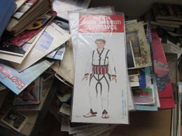 National Costumes Cardboard Doll  Yugoslavia Nosnje Naroda Juguslavije  Kosovo Unpacked - Non Classés